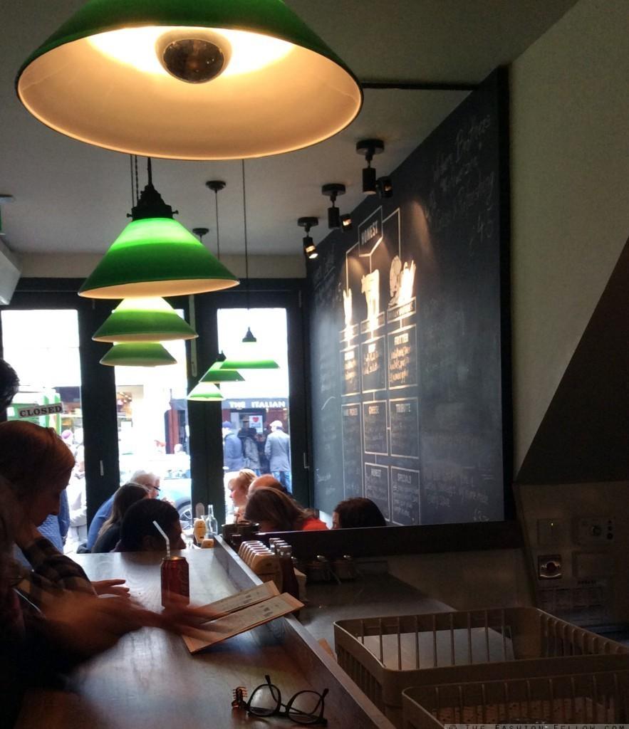 The inside of Honest Burgers, Portobello