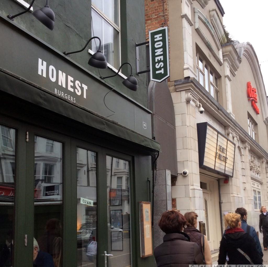 The outside of Honest Burgers, Portobello