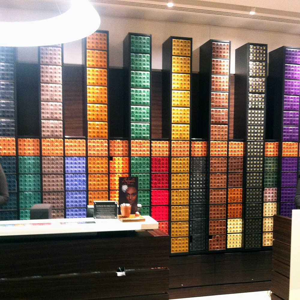 Nespresso Boutique Wall - Enless choice of delicious coffees